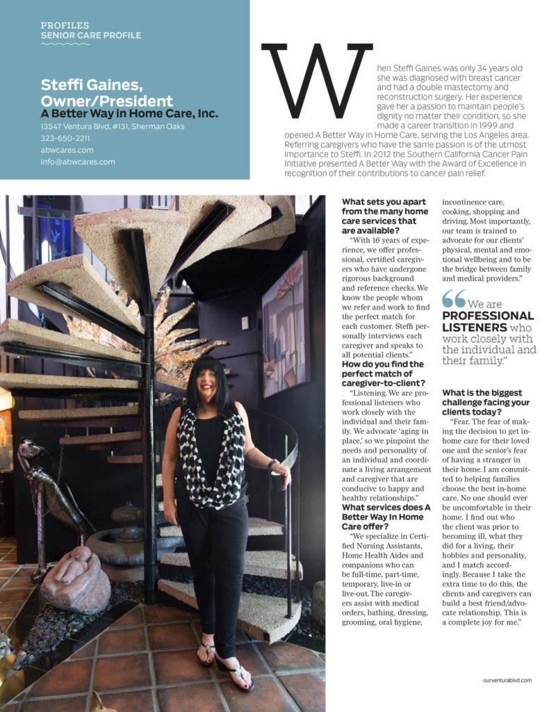 Ventura Blvd Magazine - Home Care in Los Angeles