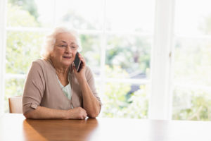 Elderly Woman on the Phone - In Home Care in Westwood