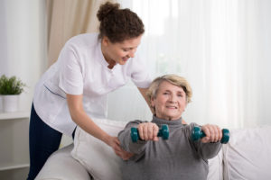 Senior Exercising - Los Angeles Home Caregiver Services