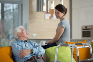 Senior Talking with His Granddaughter - Senior Care Services Los Angeles