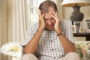 Struggling Senior Man - Home Care in Brentwood