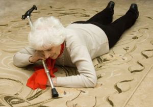 Old Woman Falling - Los Angeles home caregiver services